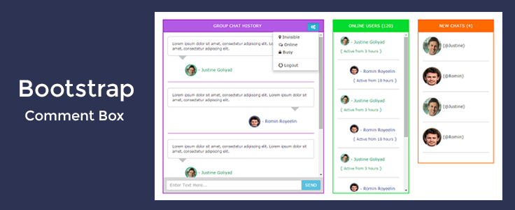 Bootstrap Comment Box Formget