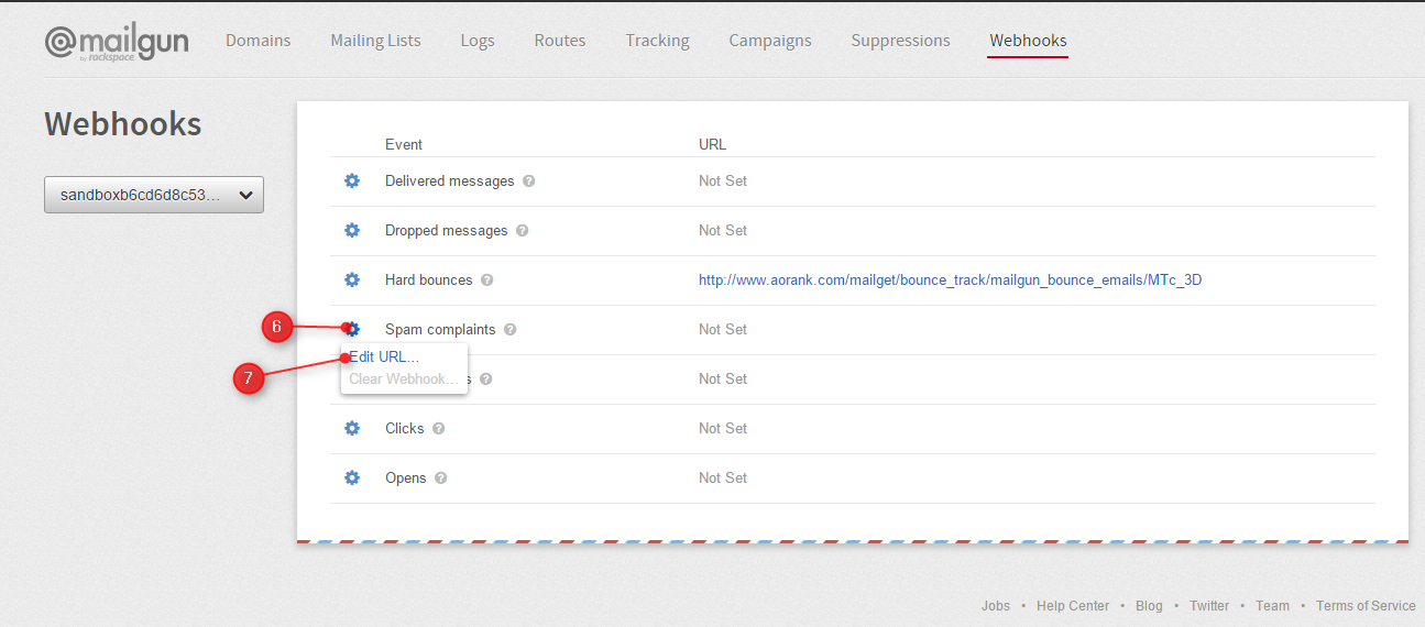 fetch bounce & spam emails by mailgun