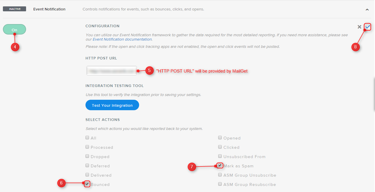 Fetch bounce emails by SendGrid