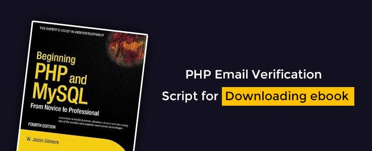 Php email verification script for downloading e book formget fandeluxe Choice Image