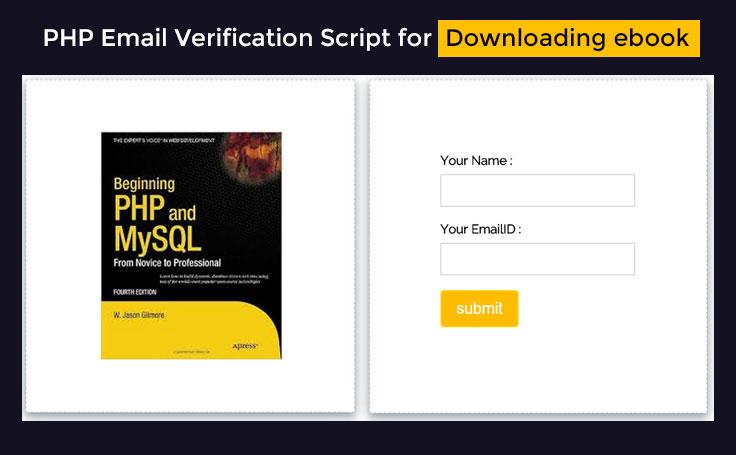 Php email verification script for downloading e book formget script description fandeluxe Choice Image