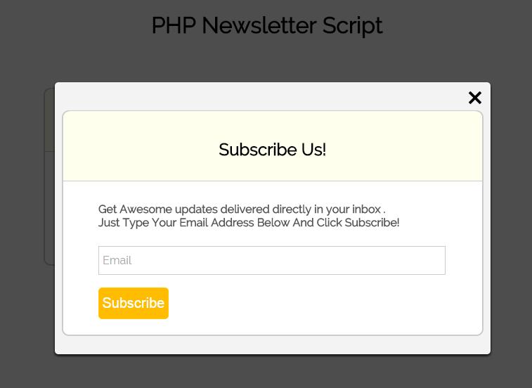 PHP Newsletter Script Demo