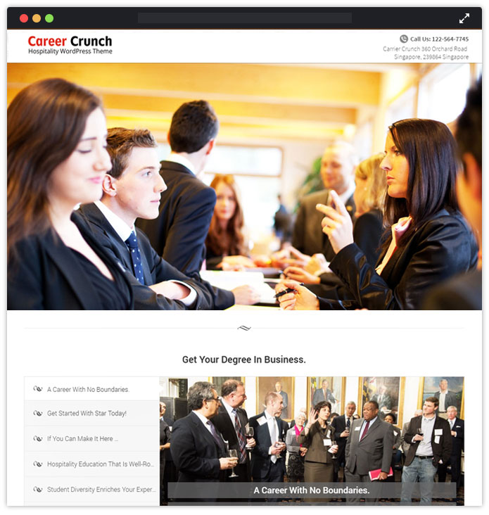 Career Crunch WordPress Theme