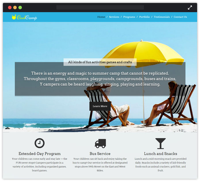 CoolCamp WordPress Theme