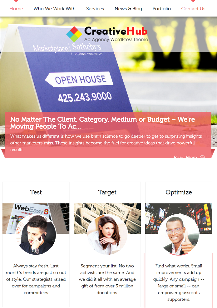 CreativeHub WordPress Theme