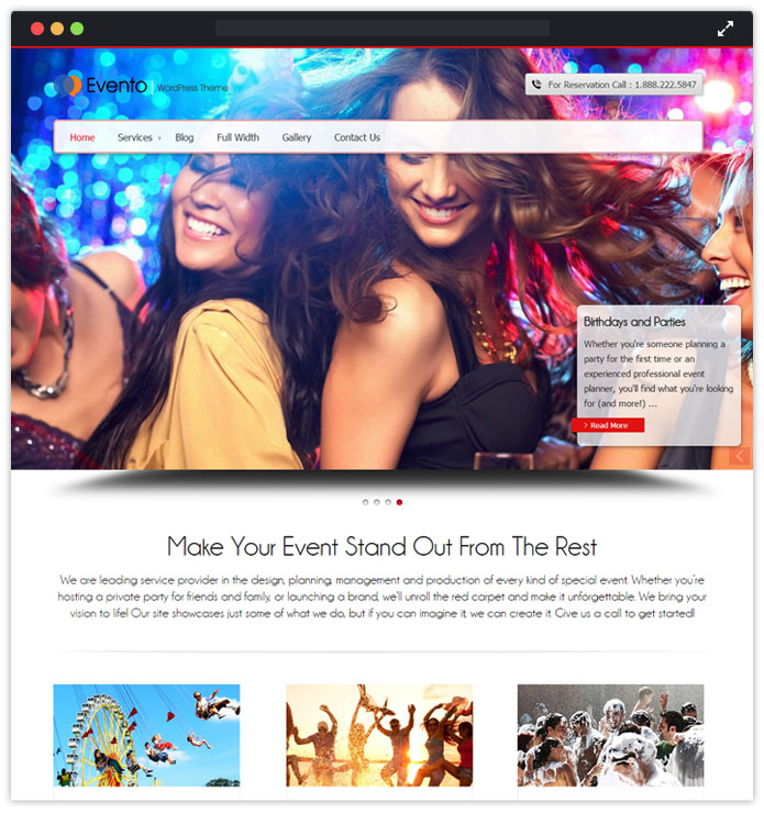 Evento WordPress Theme