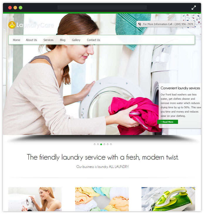 LaundryCare WordPress Theme