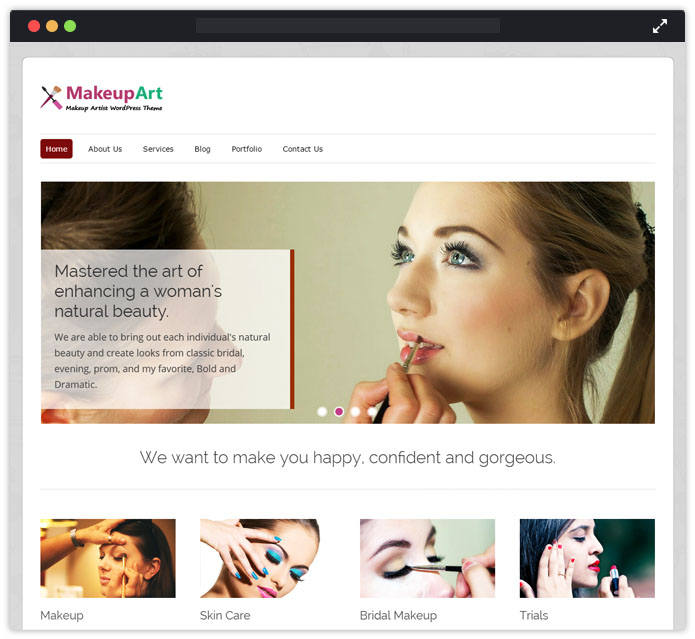 MakeupArt WordPress Theme