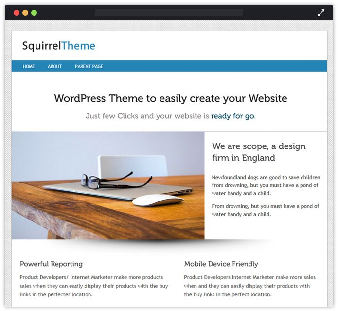 Squirrel WordPress Theme