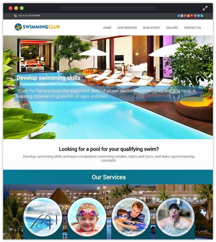 SwimmingClub WordPress Theme