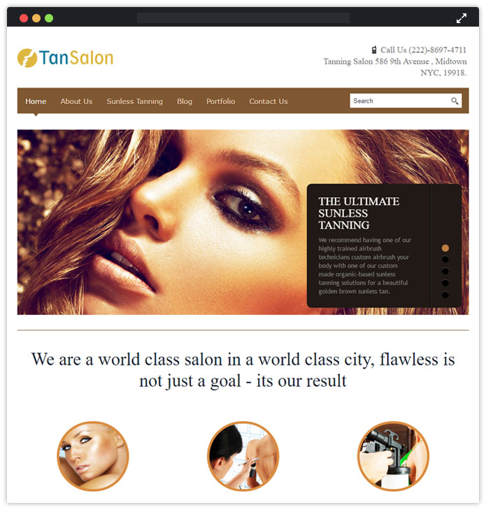TanSalon WordPress Theme
