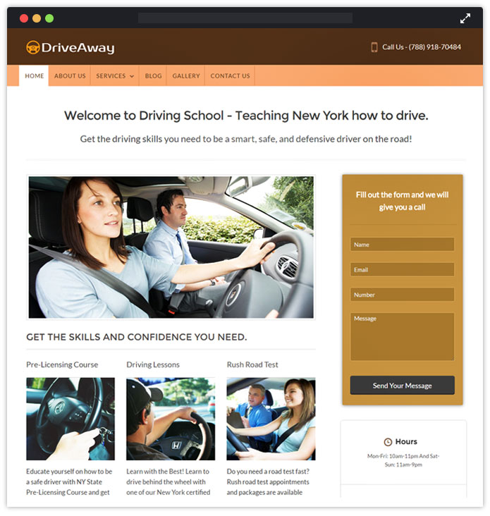 Drive a Way WordPress Theme