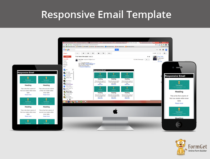 How to design responsive email template formget for Responsive stylesheet template