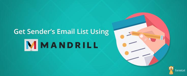Get Sender's Email List Using Mandrill API Key
