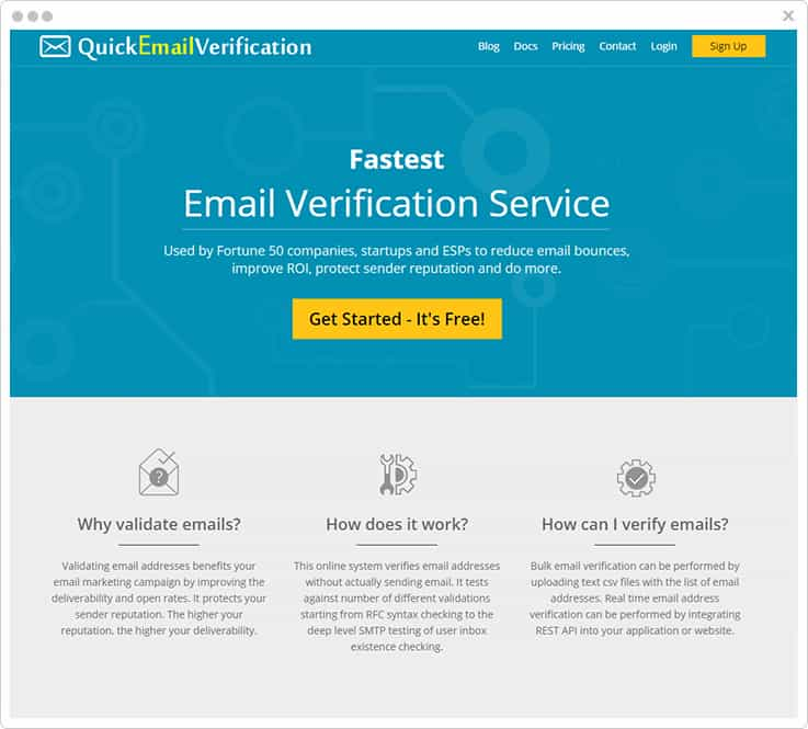QuickEmailVerification - Email List Cleaning Services