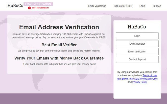 Hubuco - Email list Cleaning Service
