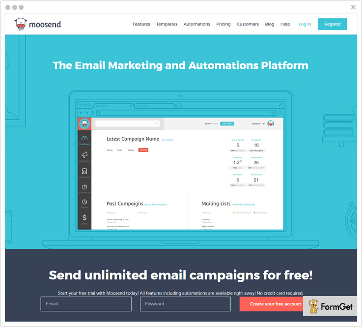 Moosend best email service