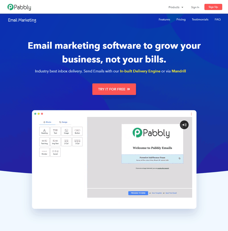 Pabbly Email Marketing - SendGrid Alternatives