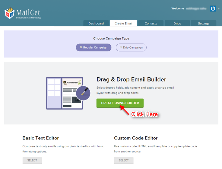 MailGet Drag & Drop Email Builder