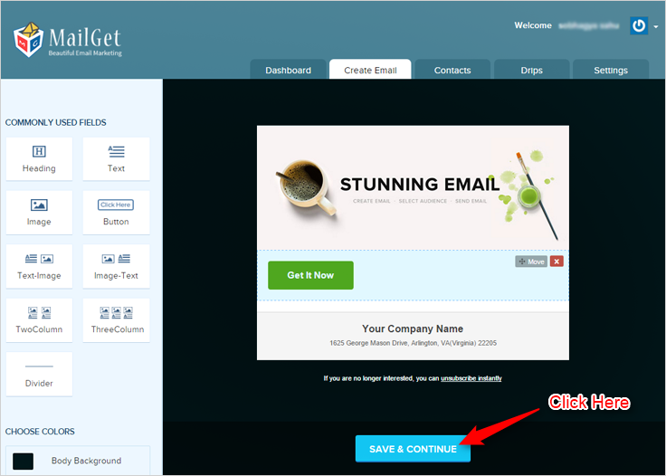 MailGet Email Builder