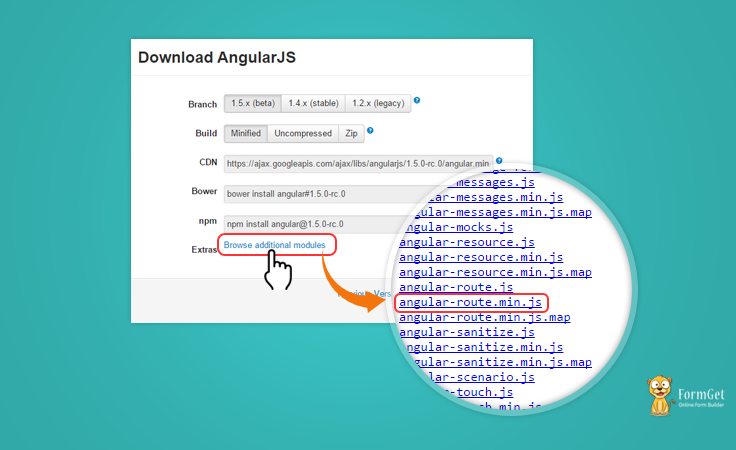 AngularJS Route Library