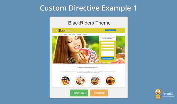Cheapest custom writing directive angularjs