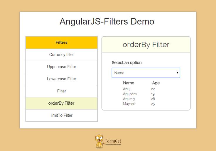 AngularJS Filter