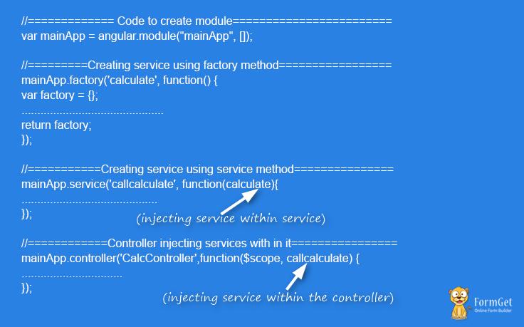 angulrjs service code