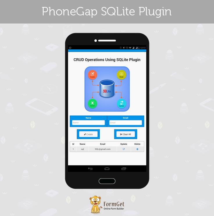 phonegap sqlite plugin img