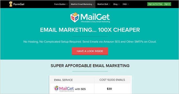 MailGet - MailChimp Alternatives
