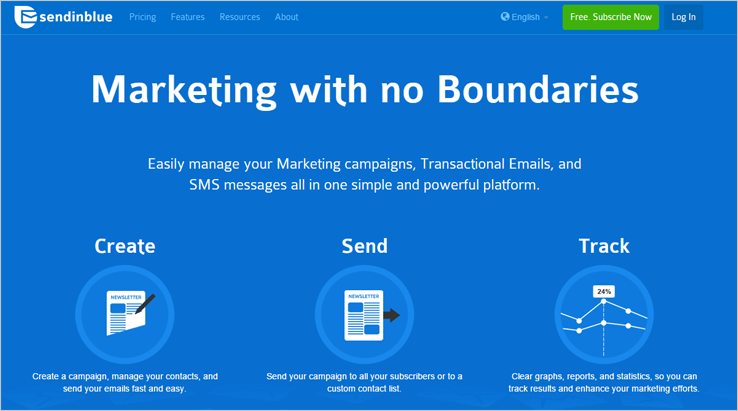 SendinBlue - MailChimp Alternatives