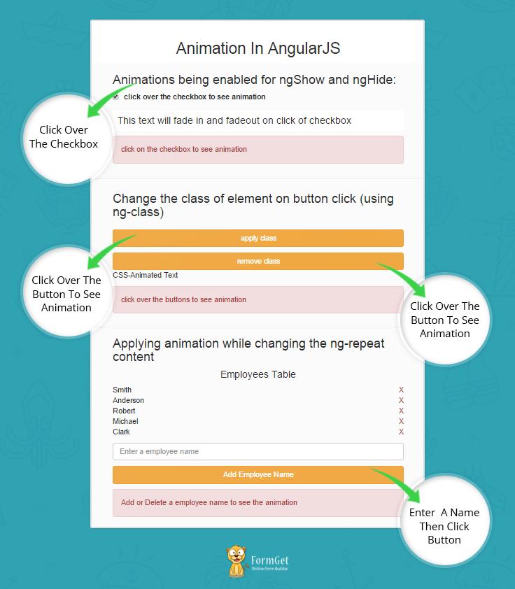 AngularJS Animation