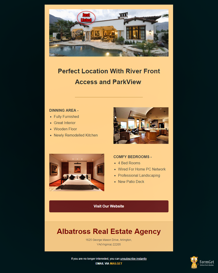 Real Estate Email Template 1