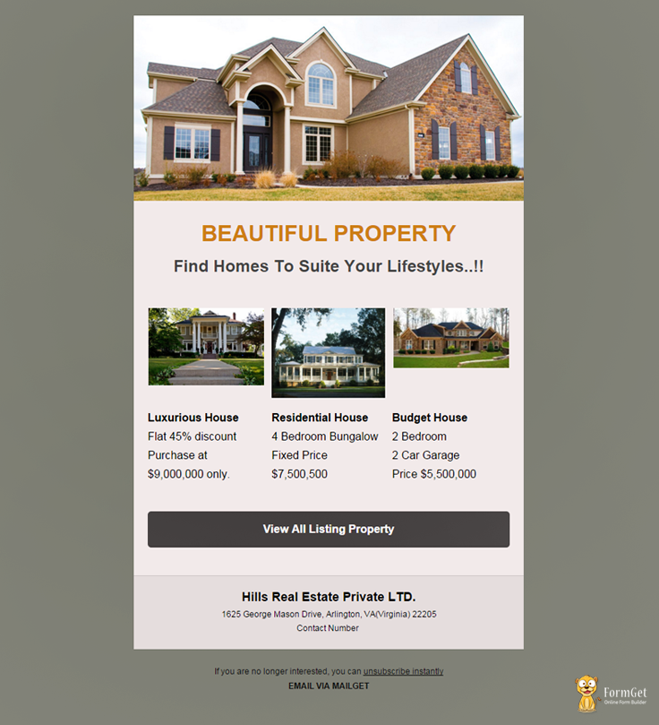 Feature packed 10 free real estate email templates mailget for Free home search