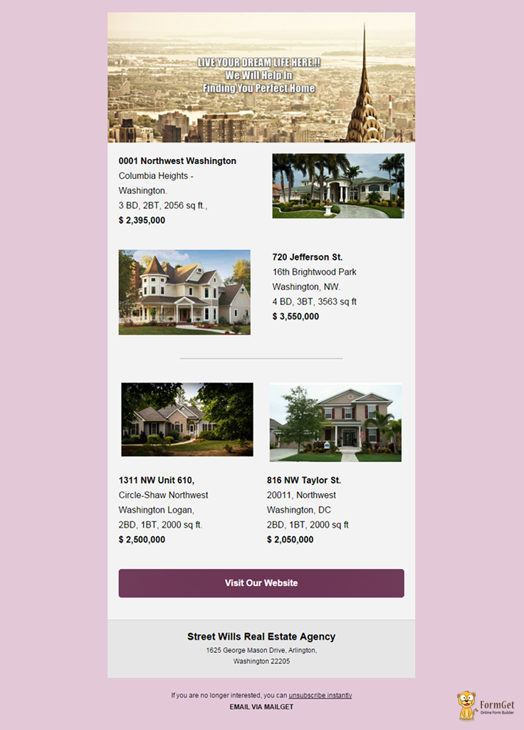 Real Estate Email Template 4