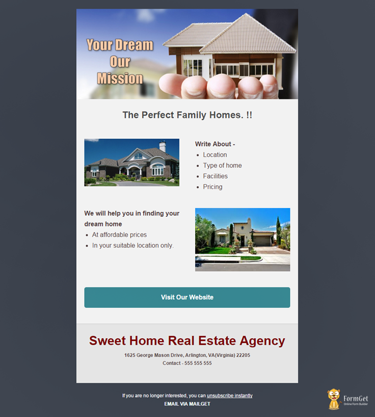 10 Free Real Estate Email Templates | MailGet