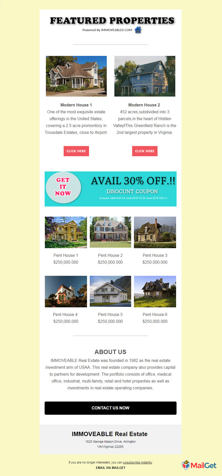 Real Estate Email Template 10 MailGet