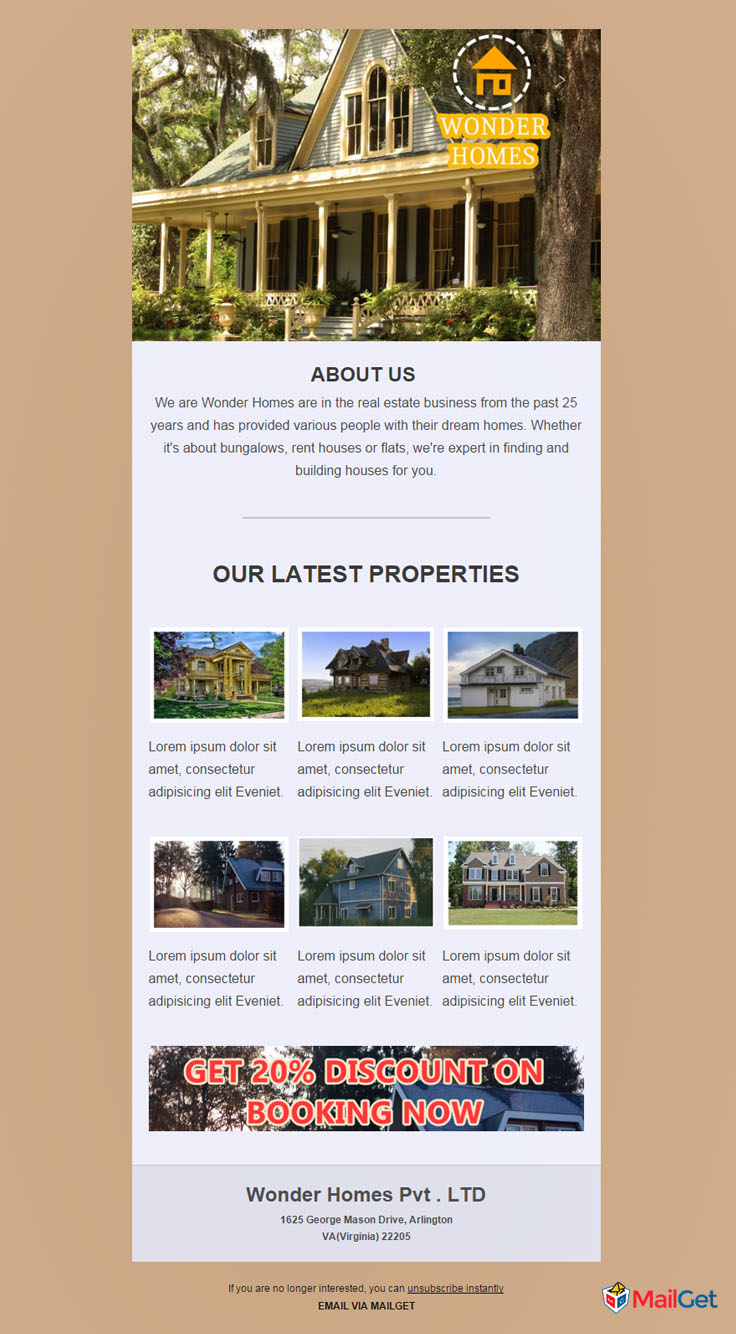 Real Estate Email Template 9 MailGet