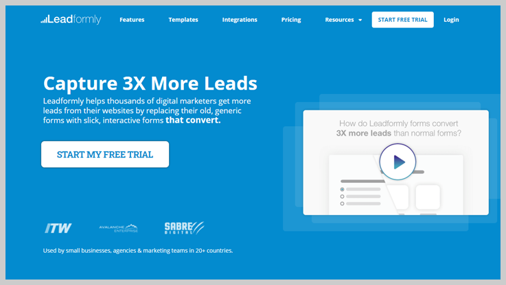 Leadformly - Best Online Form Builders