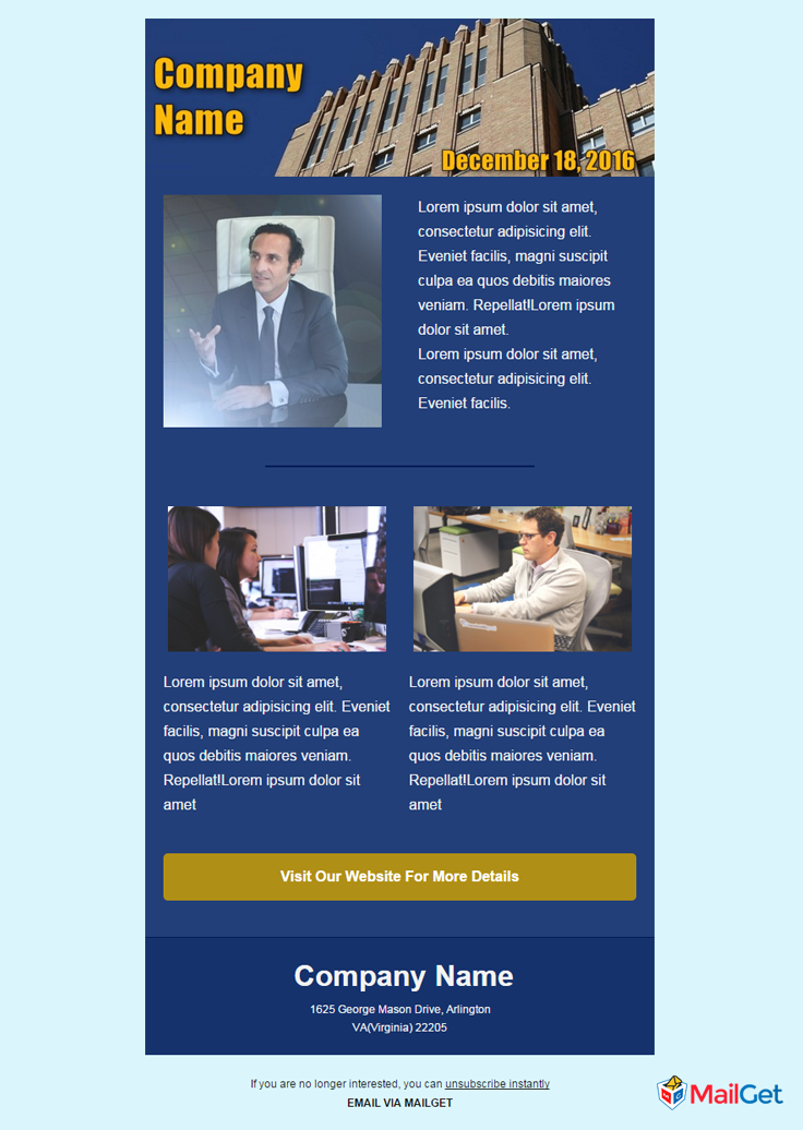 Business Email Template 3