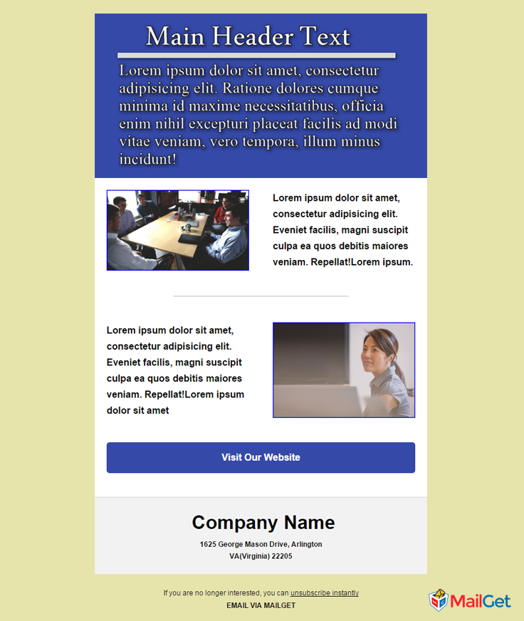 Business Email Template 4