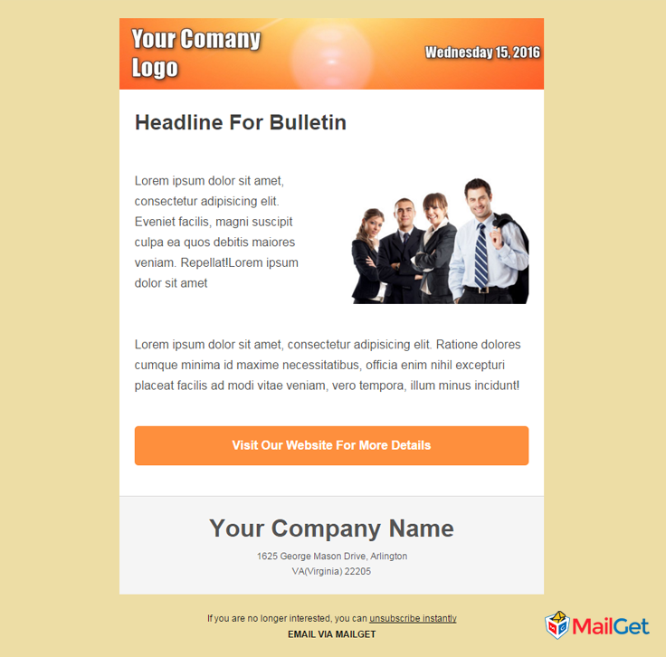 Business Email Template 5