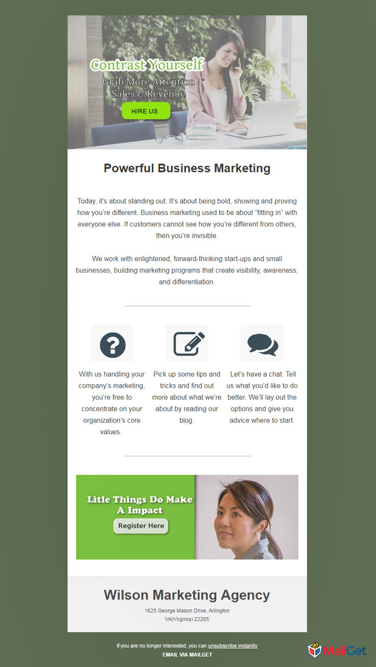 Business Email Template 10 MailGet
