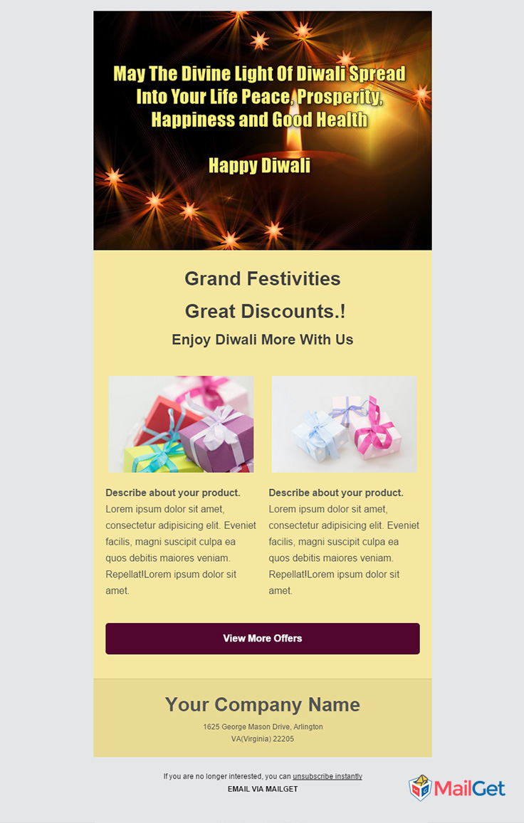 Holiday Email Template 8