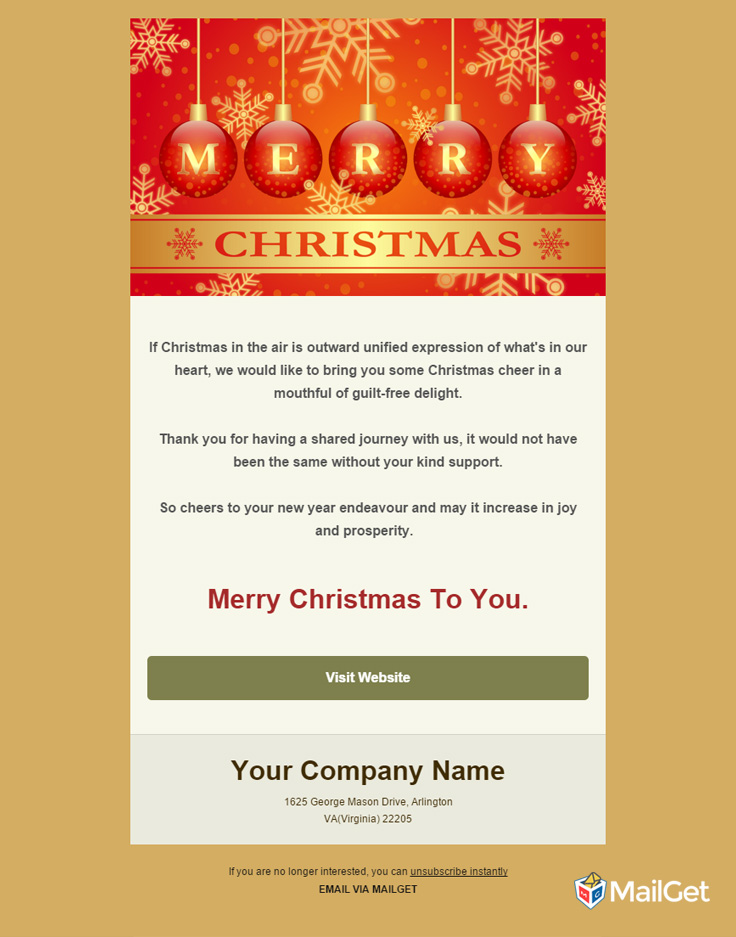 Holiday Email Template 9