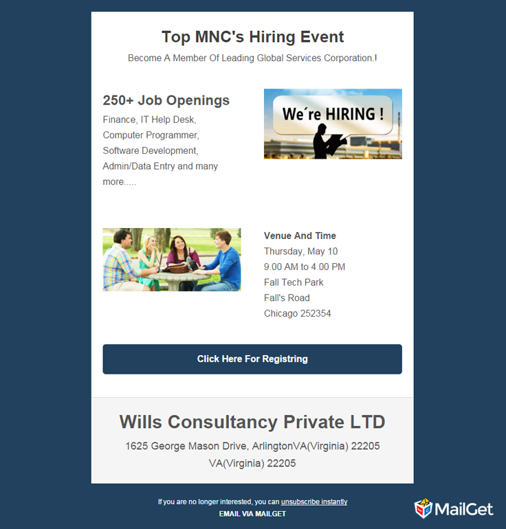 Best Free Job Recruitment Email Templates MailGet - Hiring ads templates