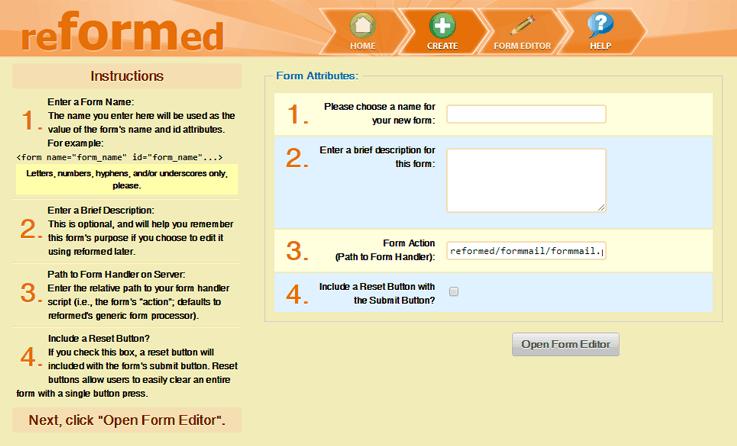 Reformed Template - Online Form Builder