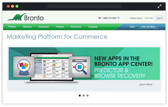 Bronto Paid Email Service Provider