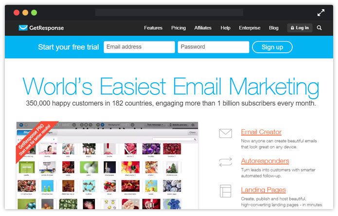 GetResponse Paid Email Service Provider