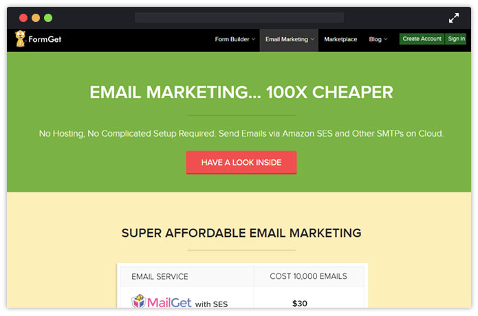 MailGet Paid Email Service Provider